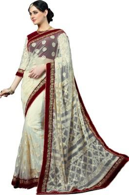 Way2 Embriodered Lucknow Chikankari Handloom Net Sari