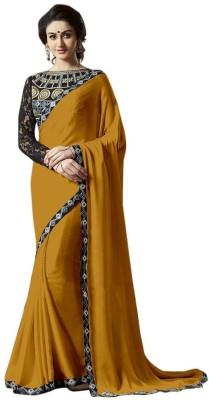Bluebird Impex Embellished, Self Design Bollywood Chiffon Sari