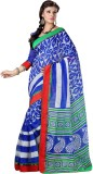 Saara Printed Fashion Cotton Saree (Blue...