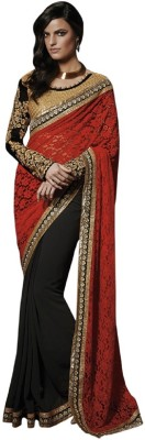 Aarrahh Self Design Bollywood Handloom Georgette Sari