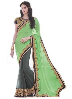 NARGIS FASHION Embellished Fashion Net Sari