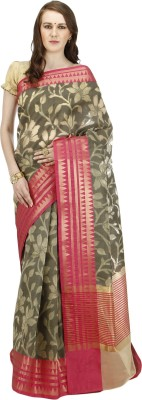 BANARASI SILK WORKS Embriodered Banarasi Cotton Sari at flipkart