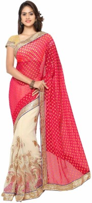 Aarnas Fashion Embriodered Bollywood Georgette Sari