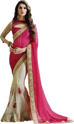 Lime Fashion Embriodered Fashion Net Sari