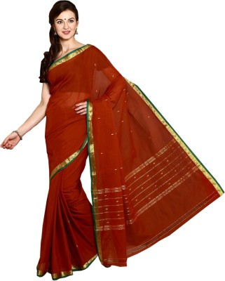 Thamaraigrandies Solid Madurai Handloom Cotton Sari