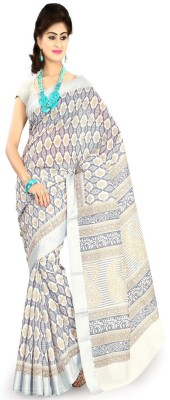 Ansu Fashion Printed Fashion Georgette Saree(Multicolor) at flipkart