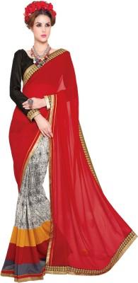 Granth Self Design Bollywood Georgette Sari