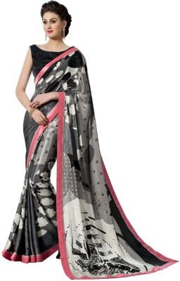 Mutiar Printed Fashion Crepe Sari