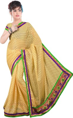 Shree Parmeshwari Self Design Bollywood Jacquard Sari