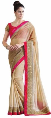 style zone Self Design Fashion Chiffon Sari