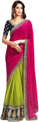 Kiran Saree Self Design Bollywood Georgette Sari