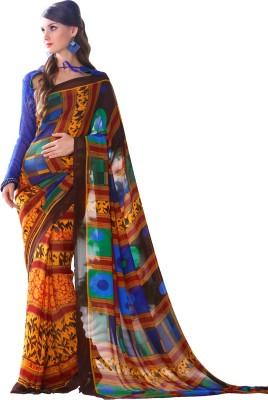V-Style4u Printed Daily Wear Georgette Sari