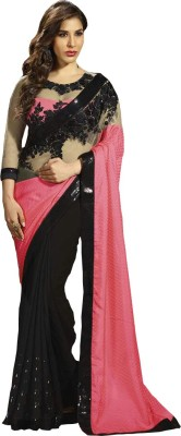 Abhaysri Fashion Embriodered Fashion Handloom Georgette Sari