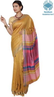 Jharcraft Solid Fashion Handloom Silk Sari