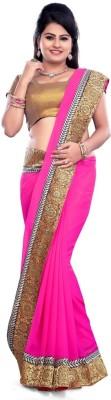 Krisha Enterprise Self Design Fashion Chiffon Sari