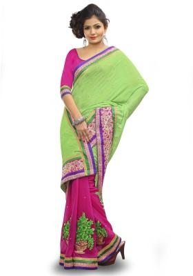 Adde Embellished Fashion Synthetic Georgette, Jacquard Sari