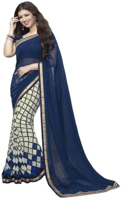 aadinathdesigner Floral Print Bollywood Georgette Sari