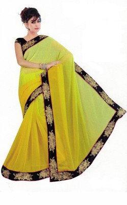 Mahesh Traders Embriodered Bollywood Georgette Sari