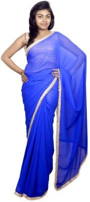 Kanchan Shree Plain Bollywood Georgette Sari