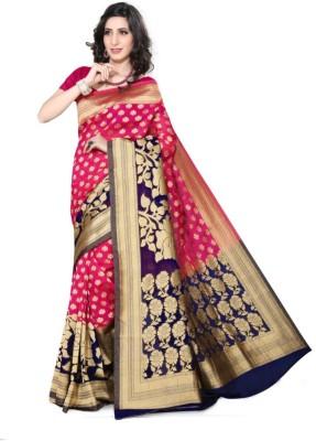 Sareeka Sarees Floral Print Bollywood Banarasi Silk Sari