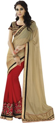Indian Women By Bahubali Embellished Fashion Lycra Sari