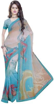 Milan silk mills Printed Fashion Pure Chiffon Sari