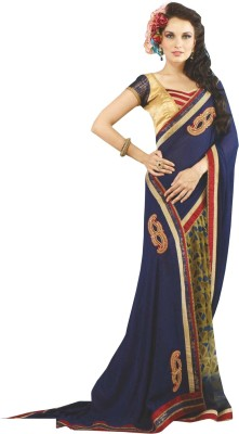 Heart & Soul Self Design Fashion Jacquard, Georgette Sari