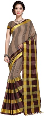 SP AURA Woven Fashion Handloom Cotton Sari(Multicolor)