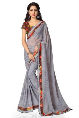 Vatsal Silk Mills Printed Fashion Chiffon Sari