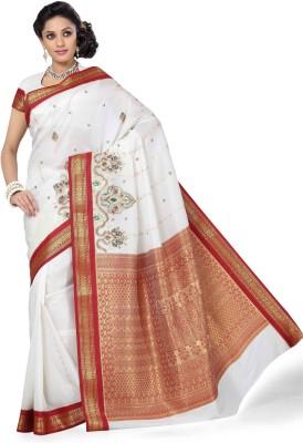 Arjuns Embriodered Kanjivaram Art Silk Sari