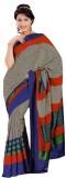 Miraan Printed, Striped Mysore Art Silk ...