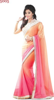Naresh Sarees Embriodered Fashion Handloom Georgette Sari