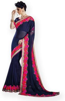 Vidya Fashion Embriodered Fashion Chiffon Sari
