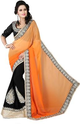 Jahnavi Creation Embriodered Bollywood Georgette Sari