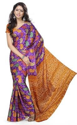 Youthmart Printed Fashion Handloom Pure Georgette Sari