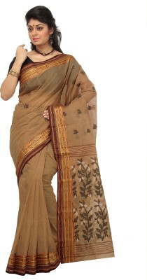Mrsaree Self Design Tant Handloom Cotton Sari