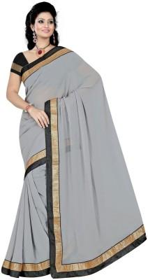 Khodiyar Creation Plain Fashion Chiffon Sari