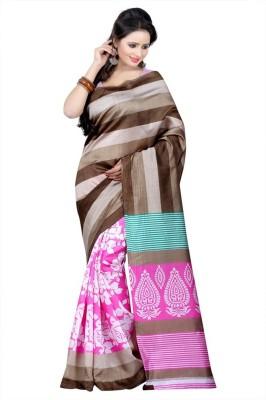 Salasar Geometric Print Daily Wear Raw Silk Sari