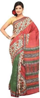 Charvi Printed Fashion Handloom Tussar Silk Sari