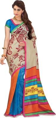 Swaman Printed Fashion Jute Sari