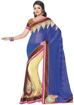 Kintu Designs Pvt. Ltd. Embriodered Fashion Viscose Sari