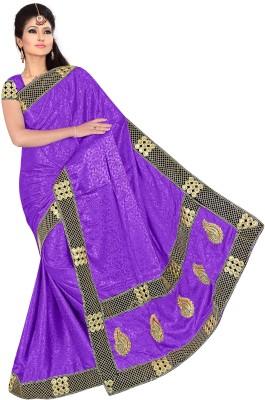 RockChin Fashions Embriodered Fashion Jacquard Sari