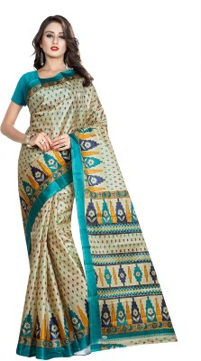 ethniccrush Printed Fashion Raw Silk Sari