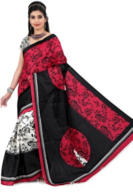 Kia Fashions Printed Bhagalpuri Art Silk Sari