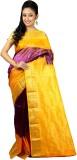 Womilo Woven Kanjivaram Silk Saree (Purp...