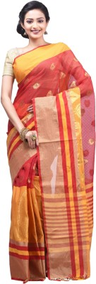 Creation Striped Fashion Handloom Silk Cotton Blend Sari