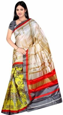 DFTZ Printed Bhagalpuri Printed Silk Sari