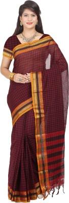 Maxsarees Checkered Bollywood Art Silk Sari