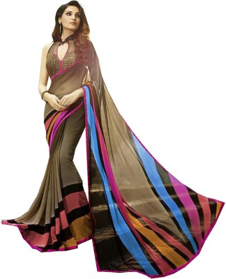 Vency creation Self Design Bollywood Georgette Sari