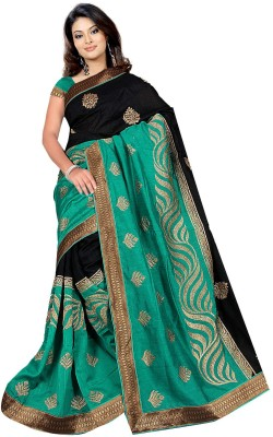 Fashiondodo Self Design Fashion Silk Cotton Blend Sari